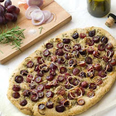 Gluten Free Focaccia with Grapes and Rosemary