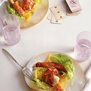 Warm Butter-Poached Lobster Salad with Tarragon-Citrus Dressing