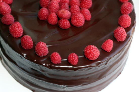 Chocolate Raspberry Layer Cake With Chocolate Ganache Frosting Recipe ...