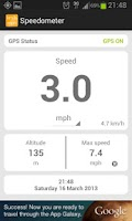 Screenshot of Simple speedometer km/h - mph