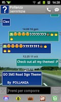 Screenshot of GO SMS Pro Road Sign Theme