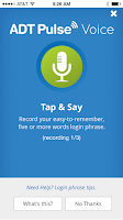 Screenshot of ADT Pulse ® Voice