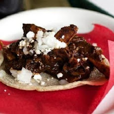 Roasted Pork Tacos with Mole Sauce