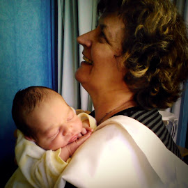 Grandmother by Angie Constable - People Family ( love, thankful, hug, ecstatic, happy, happiness, grandmother, newborn,  )