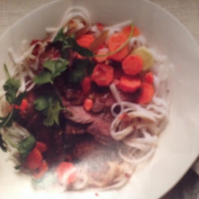 Ginger Marinated Steak and Noodle Salad
