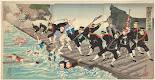 RIJKS: Kobayashi Toshimitsu, Hide to, Sekiguchi Masajirô: print 1894