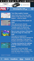 Screenshot of FOX 32 Weather