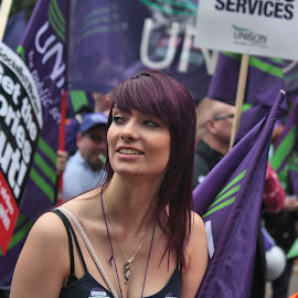 TUC Protest March in London by Dean Thorpe - People Street & Candids