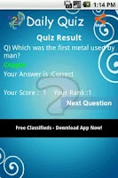 Screenshot of Daily Quiz Live