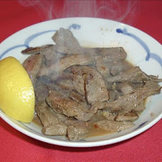 Egyptian Fried Beef Liver (Kibda Skandrani)
