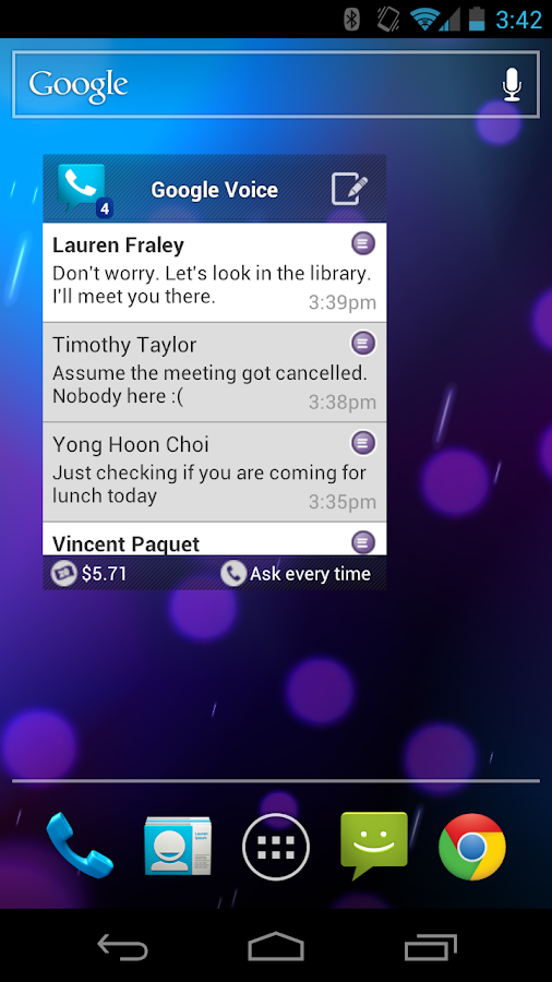 Google Voice Screenshot 4