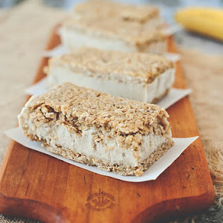 Maple and Oat Banana Ice Cream Sandwiches