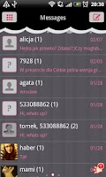 Screenshot of GO SMS Pro Gothic Lolita Theme