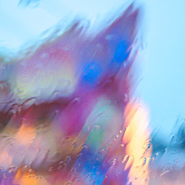 by Michelle Coyne - Abstract Patterns ( windshield, rain, colours,  )