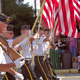salute the flag by Marsha Lewis - News & Events US Events