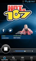 Screenshot of Rádio Hot107