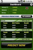 Screenshot of CricPredict