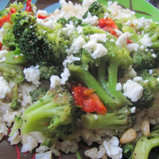 Quick-Braised Broccoli With Sun-Dried Tomatoes and Goat Cheese