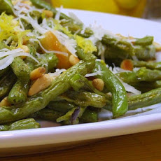 Roasted Green Beans w/ Lemon, Pine Nuts & Parmigiano