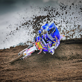 On The Edge by Chris Richards - Sports & Fitness Motorsports ( motorbike, motocross, moto, motorcycle, sport )
