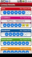 Screenshot of UK Lotto/Lottery Results