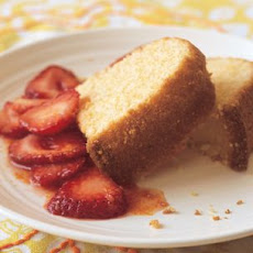 Polenta Tea Cake with Citrus-Sugared Strawberries