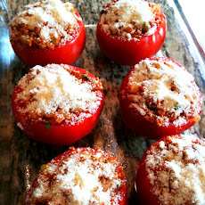 Easy Greek Stuffed Tomatoes