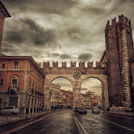 one moment in time by Snezana Popovic - Buildings & Architecture Other Exteriors ( verona, buildings, italy )