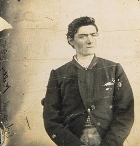 A photo of Ned Kelly as a young 19 year old charged with horse stealing