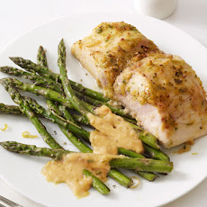 Mahi Mahi With Asparagus and Almond Sauce