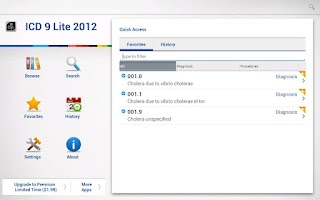 Screenshot of ICD 9 Lite 2012