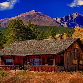 Rocky Mountain Home by Terry Ricks - Buildings & Architecture Homes ( home, grass, rocky mountain, rocky mountains, colorado, trees, homes, estes park colorado )