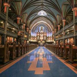 Notre-Dame  by Roland Bast - Buildings & Architecture Places of Worship ( montreal, quebec, perspective, lines, notre-dame cathédrale )