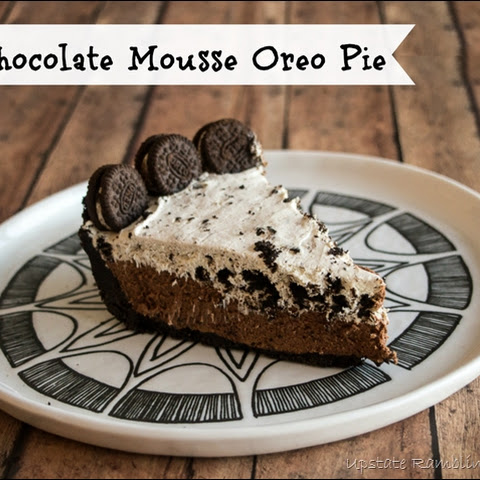 Chocolate Mousse Oreo Pie