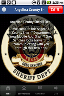 Angelina County Sheriff Dept - screenshot