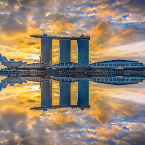 MBS SUNRISE  by Jun Hao - Landscapes Sunsets & Sunrises ( landscape 2015,  )