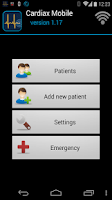 Screenshot of Cardiax Mobile ECG