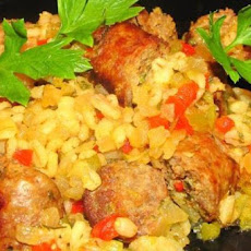 Bratwurst and Beer Casserole