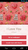 Screenshot of I Love You: wallpaper & theme