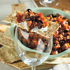 Peach and Pecan Tapenade with Goat Cheese