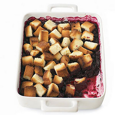 Blueberry Pound Cake Crisp
