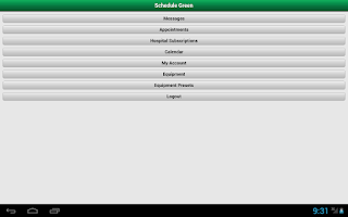 Screenshot of ScheduleGreen