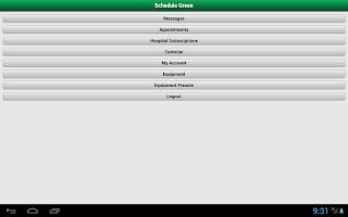 Screenshot of ScheduleGreen