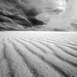 sand storm brewing  by Michael Keel - Landscapes Deserts ( sand storm, white sands, new mexico )