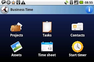 Screenshot of Business Time FREE tracker