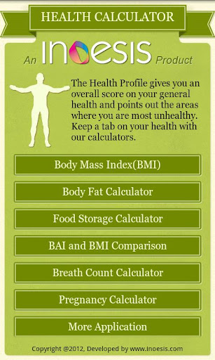 Diet Plus-Multiple Health Calc