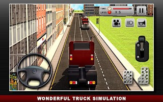 Screenshot of Road Truck Simulator 3D Games