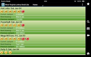Screenshot of GA Lottery Droid Lite