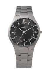 Skagen Round Titanium Bracelet Watch, 34mm