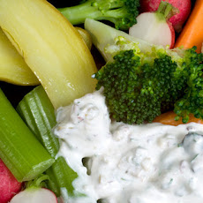 Olive-Parsley Dip with Crudités Recipe